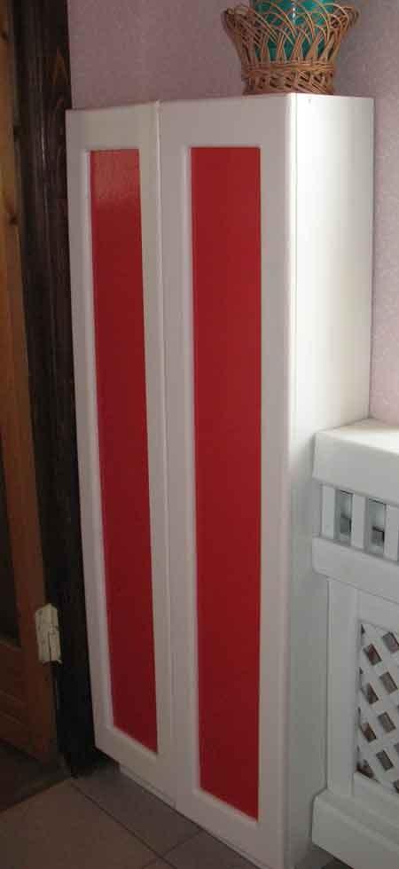 Шкаф пенал для кухни. Мебель должна быть простой и максимально