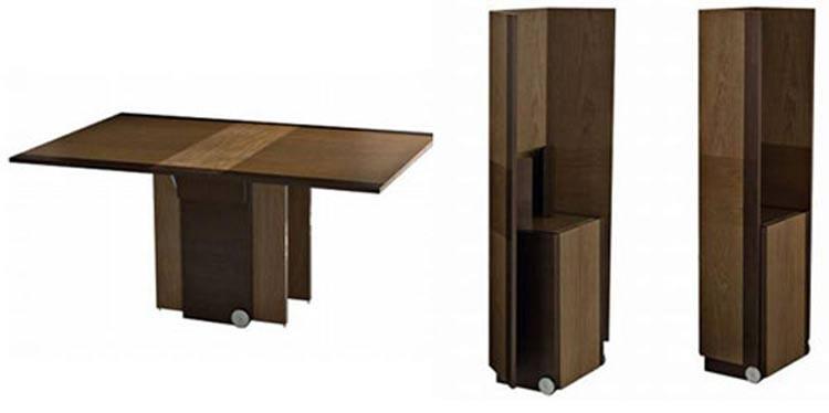 Стол для кухни. Я обратил внимание на то, что в сложенном виде над тумбой