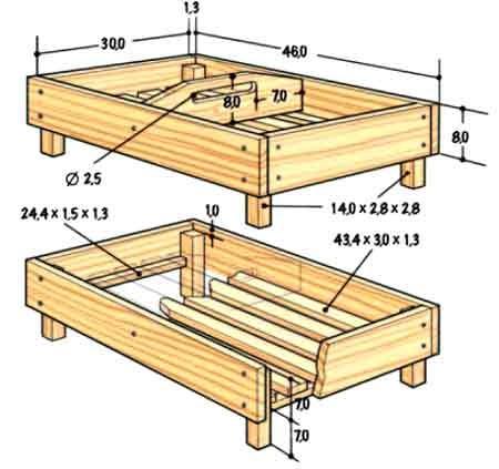 Ящики деревянные для хранения овощей своими руками 13
