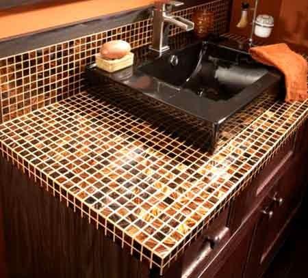 Столешница из мозаики на кухне фото обрезок столешница из дсп