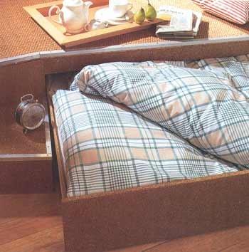 выдвижная кровать.