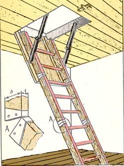 Как своими руками сделать лестницу на чердак