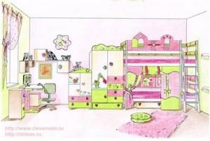 Интерьер уютной детской комнаты
