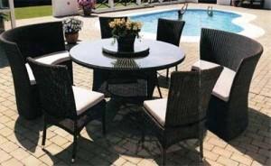 Мебель из искусственного ротанга — долговечное украшение садового участка