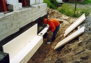 Утепление фундамента дома с подвалом пенопластом