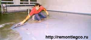 Ремонт и установка наливного пола