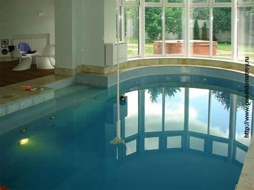 строительство бассейна в доме