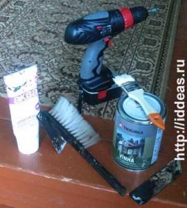 инструменты и материалы для ремонта