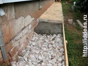 заливка песчано-цементным раствором