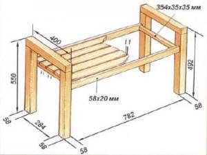 Небольшая садовая скамейка, рассчитанная на двух человек, подойдет не только для сада, но и для таких небольших...