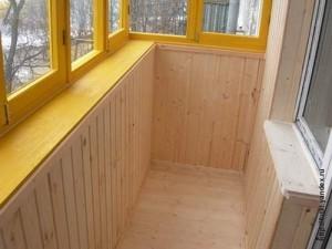обшить деревянной вагонкой