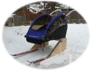 зимняя прогулочная коляска