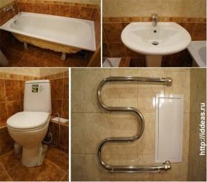 установка ванной, раковины