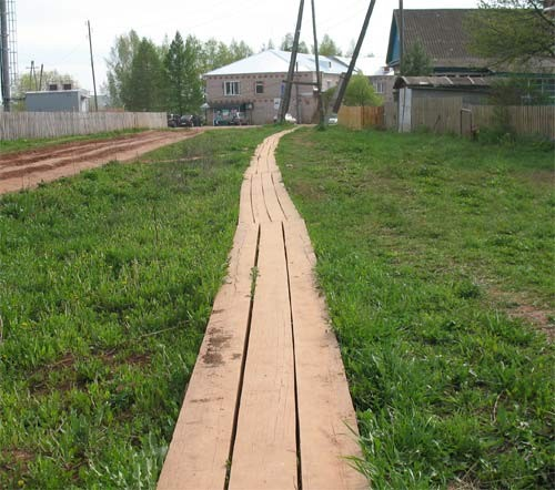 деревянные тротуары
