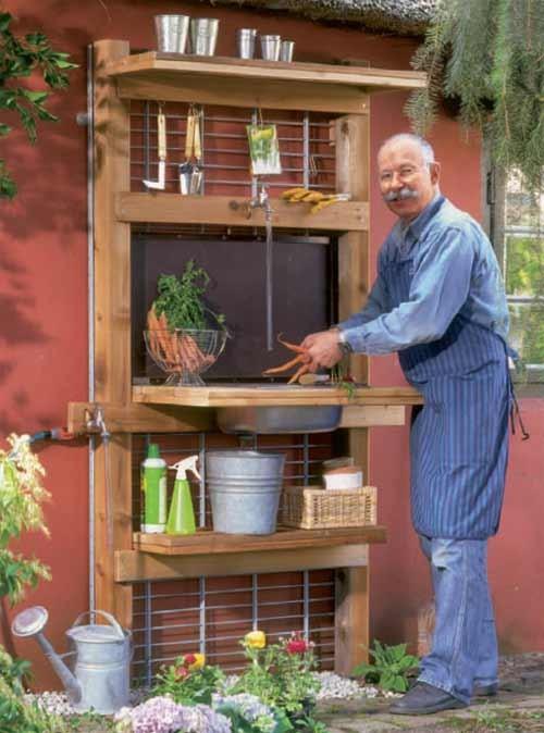 рабочий стол в саду
