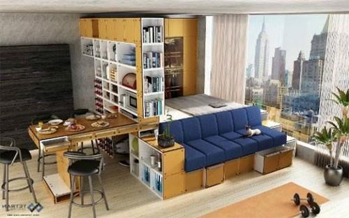 крохотной квартире