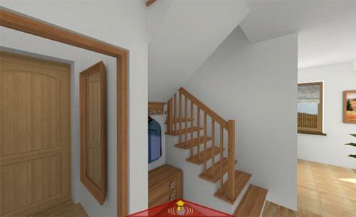 по лестнице на мансардный этаж