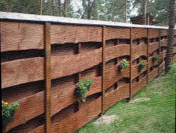 забор на огород своими руками
