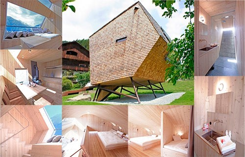 уникальный деревянный дом