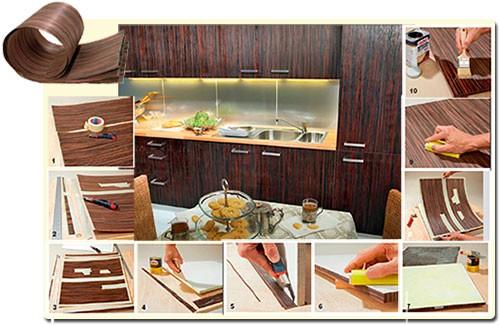 облицовка мебели шпоном