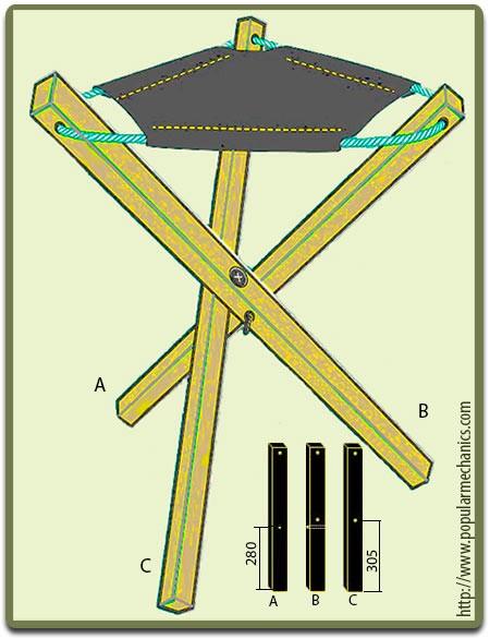 Сделать своими руками раскладной стул для рыбалки