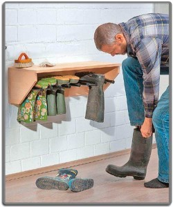 Полка для обуви на даче своими руками