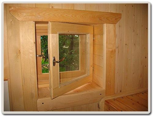 Деревянные окна для бани своими руками 982