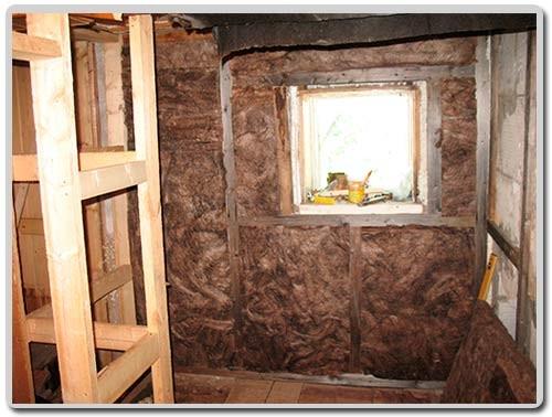 стена и потолок предбанника