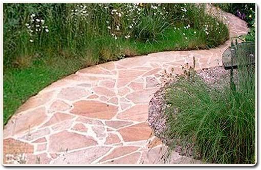 сделать извилистую садовую дорожку