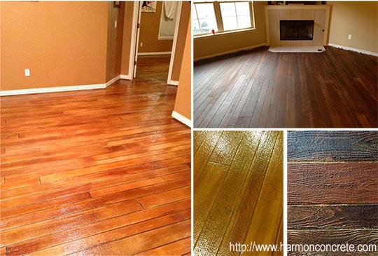 бетонный пол имитирующий деревянный