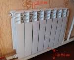 устанавливаем радиатор отопления