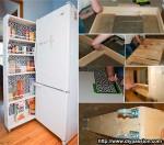 узкий выдвижной шкаф
