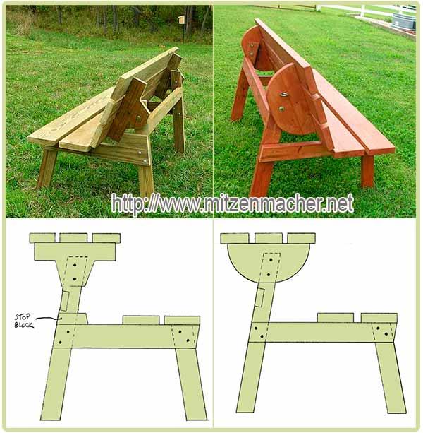 стол-скамейка