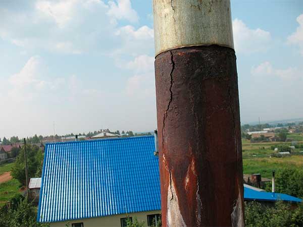Монтаж дымохода в старую трубу дымоходы для газовых колонок из нержавейки