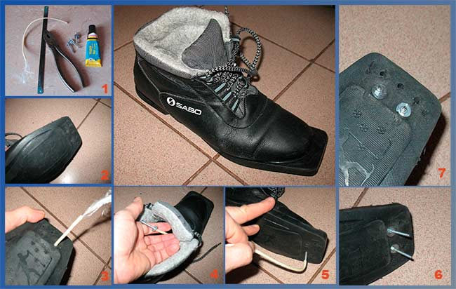 Ремонт ботинка своими руками