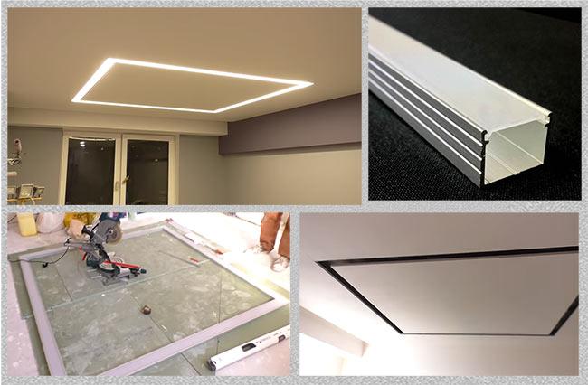 монтаж потолочного освещения