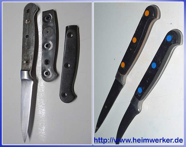 восстановление рукоятки ножа