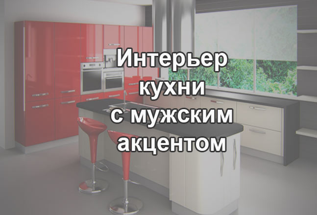 интерьер мужской кухни