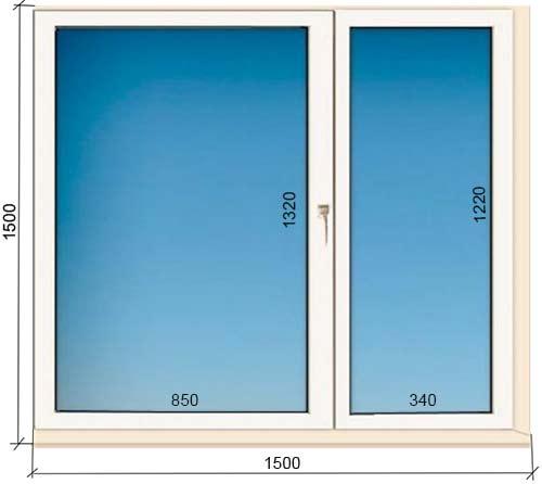 размеры пластикового окна