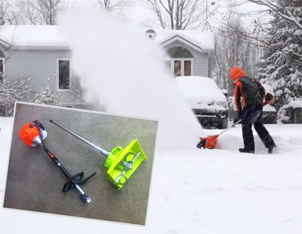бензокоса снегоуборщик