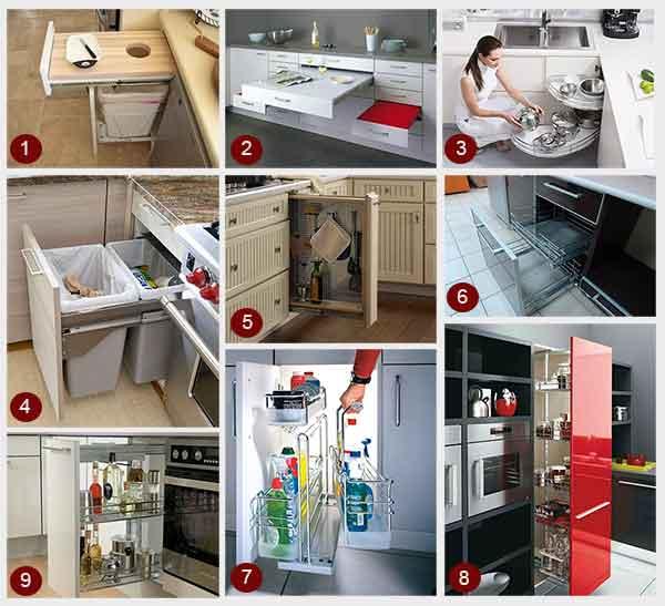 выдвижные кухонные системы