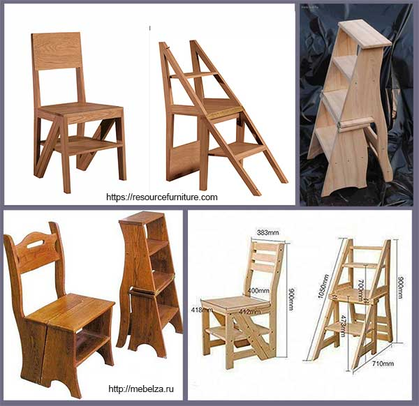 использование стула-стремянки