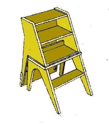 стул превращается в лестницу