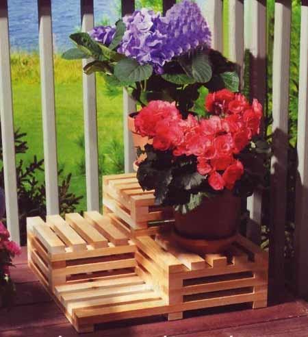 Элегантная подставка под цветы