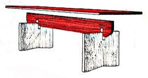 Разборный стол на даче