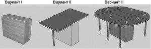Раскладной стол-тумба