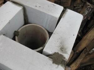 заполнить бетоном