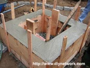 бетон заливают