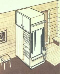 двусторонний шкаф