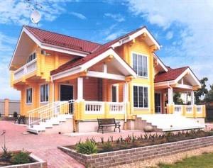 малоэтажный деревянный дом